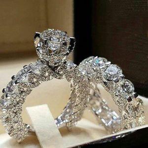 💍White Gold Diamond Engagement Rings💍Women's